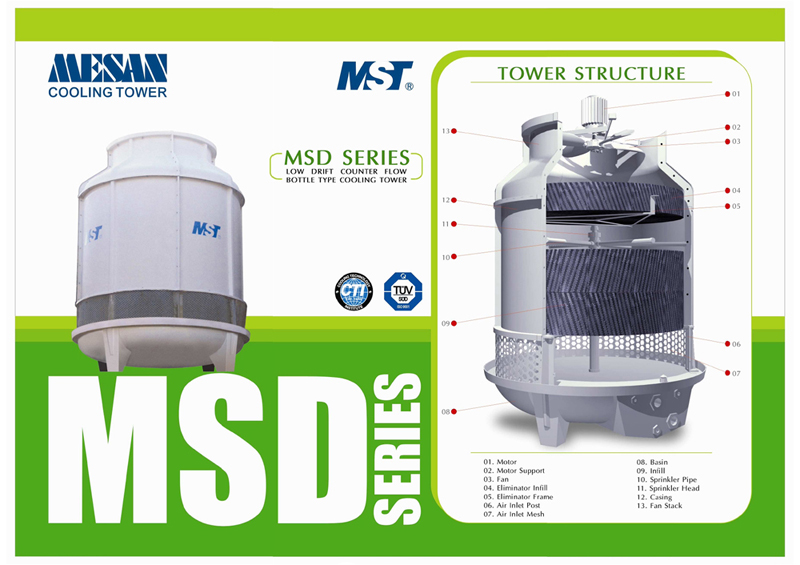 MESAN MSD Low Drift Cooling Tower - Cooling Towers